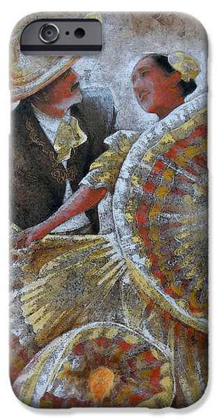 JARABE TAPATIO DANCE iPhone Case by JOSE ESPINOZA