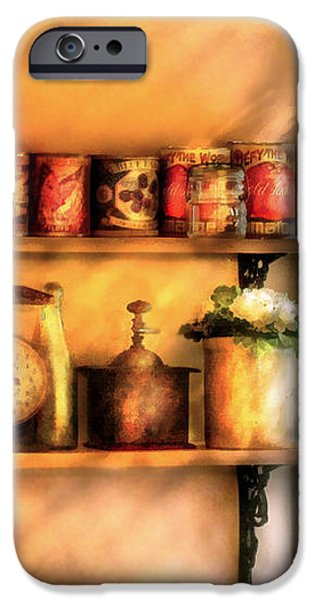 Jars - Kitchen Shelves iPhone Case by Mike Savad