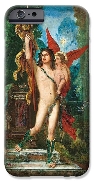 Night Angel Paintings iPhone Cases - Jason and Eros iPhone Case by Gustave Moreau