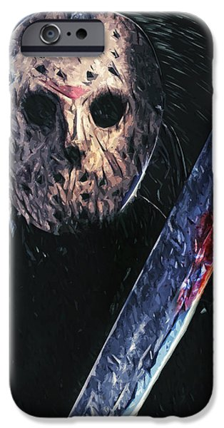 Fictional iPhone Cases - Jason Voorhees iPhone Case by Taylan Soyturk