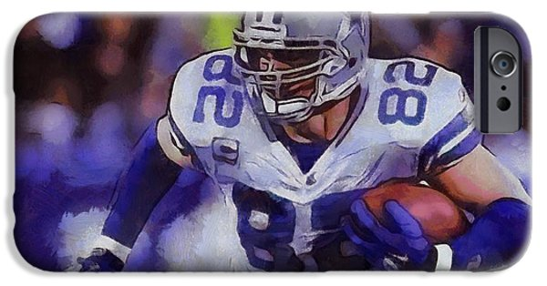 The Cowboy iPhone Cases - Jason Witten Dallas Cowboys iPhone Case by Dan Sproul