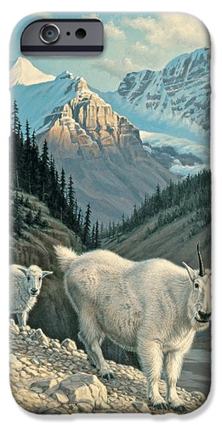 Mountain iPhone Cases - JasperGoats iPhone Case by Paul Krapf