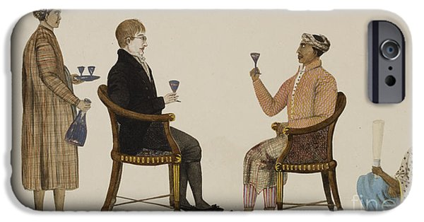 Wine Service Photographs iPhone Cases - Javanese Grandee iPhone Case by British Library