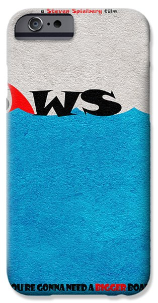 Jaws iPhone Cases - Jaws iPhone Case by Ayse Deniz
