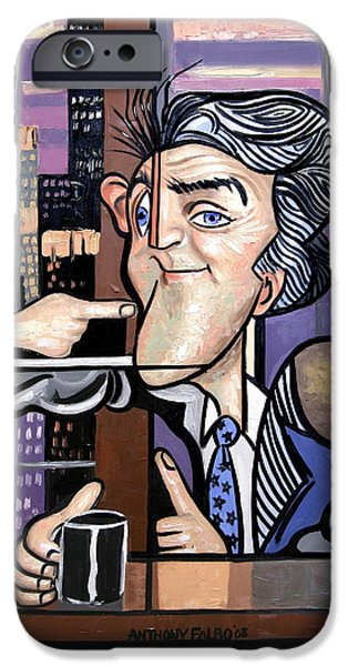 Jay iPhone Cases - Jay Leno You Been Cubed iPhone Case by Anthony Falbo