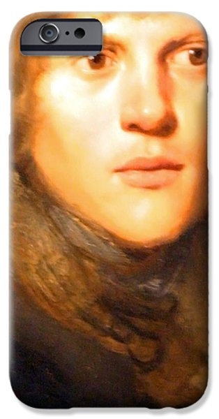 Lieven iPhone Cases - Jay Lievens Self Portrait Up Close iPhone Case by Cora Wandel