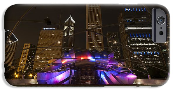 Venue iPhone Cases - Jay Pritzker Pavilion Chicago iPhone Case by Adam Romanowicz