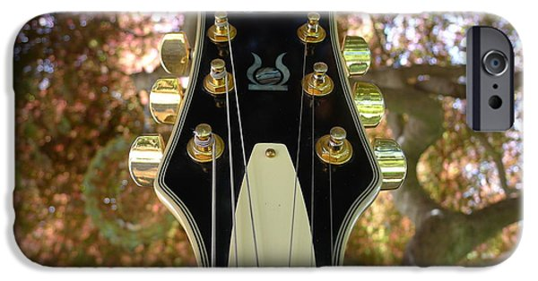Gitarre iPhone Cases - Jay Turser Head Stock iPhone Case by Richard Reeve