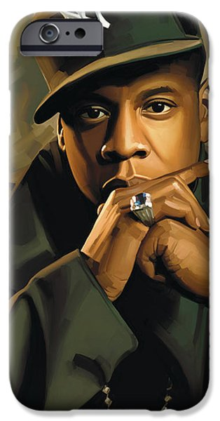 Jay iPhone Cases - Jay-Z Artwork 2 iPhone Case by Sheraz A