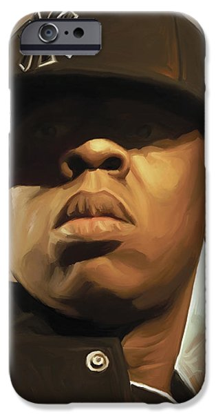 Jay iPhone Cases - Jay-Z Artwork iPhone Case by Sheraz A