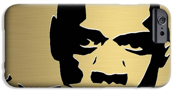 Jay Z iPhone Cases - Jay Z Gold Series iPhone Case by Marvin Blaine