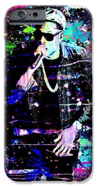 Jay Z Paintings iPhone Cases - Jay Z Original Painting Art Print iPhone Case by Ryan RockChromatic