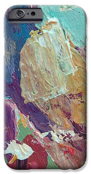 Abstract Expressionism iPhone Cases - Jazz Block iPhone Case by David Lloyd Glover