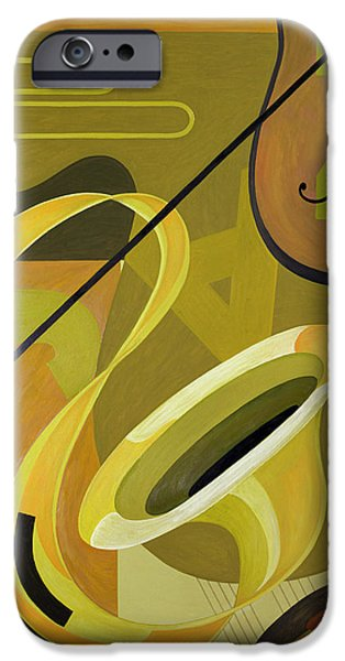 Disc iPhone Cases - Jazz iPhone Case by Carolyn Hubbard-Ford