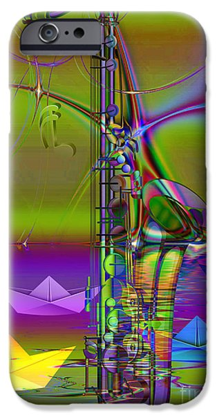 Art Of Soul Music iPhone Cases - Jazz Chill iPhone Case by Eleni Mac Synodinos