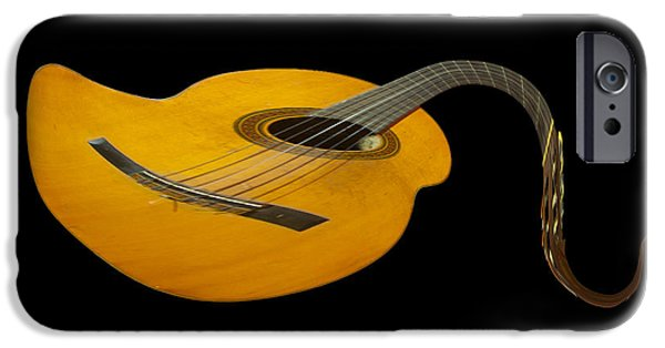 Epiphone Guitar iPhone Cases - Jazz Guitar 2 iPhone Case by Debra and Dave Vanderlaan
