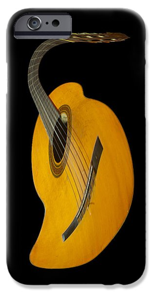 Epiphone Guitar iPhone Cases - Jazz Guitar iPhone Case by Debra and Dave Vanderlaan