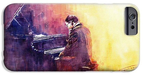 Jazz Paintings iPhone Cases - Jazz Herbie Hancock  iPhone Case by Yuriy  Shevchuk