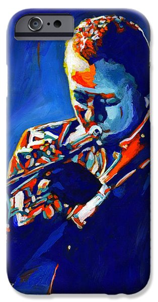 Miles Davis iPhone Cases - Jazz Man Miles Davis iPhone Case by Vel Verrept