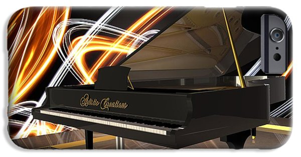 Recently Sold -  - Piano iPhone Cases - Jazz Piano Bar iPhone Case by Louis Ferreira