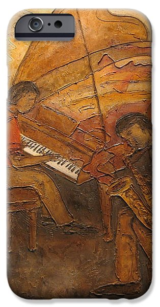 Jazz Quartet iPhone Case by Anita Burgermeister