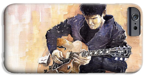 Legend iPhone Cases - Jazz Rock John Mayer 02 iPhone Case by Yuriy  Shevchuk