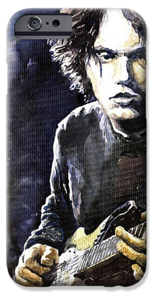 Jazz Rock John Mayer 03  iPhone Case by Yuriy  Shevchuk