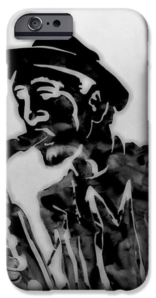 Jazz Saxophone Man iPhone Case by Dan Sproul