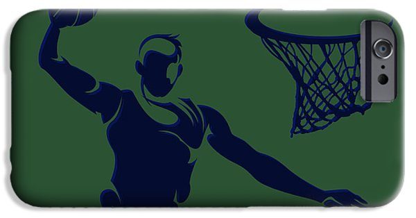 Utah Jazz iPhone Cases - Jazz Shadow Player1 iPhone Case by Joe Hamilton