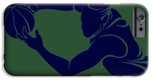 Utah Jazz iPhone Cases - Jazz Shadow Player2 iPhone Case by Joe Hamilton