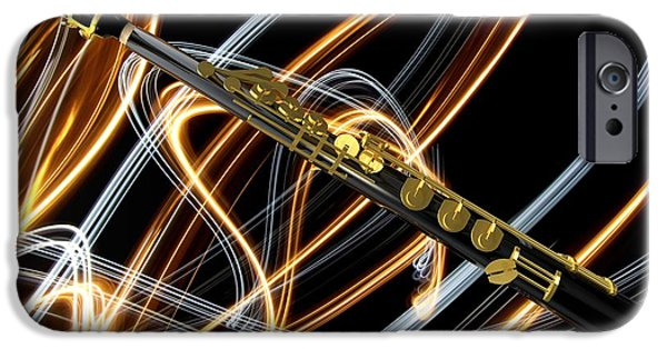 Soprano iPhone Cases - Jazz Soprano Sax iPhone Case by Louis Ferreira