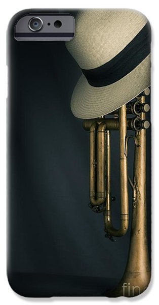 Audio iPhone Cases - Jazz Trumpet iPhone Case by Carlos Caetano