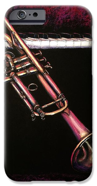 Piano Pastels iPhone Cases - Jazz66 iPhone Case by Ugo Paradiso
