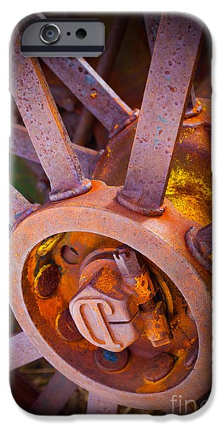 Machinery iPhone Cases - JD Wheel iPhone Case by Inge Johnsson