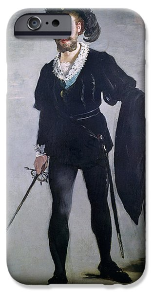 Acting iPhone Cases - Jean Baptiste Faure 1830-1914 As Hamlet, 1877 Oil On Canvas iPhone Case by Edouard Manet