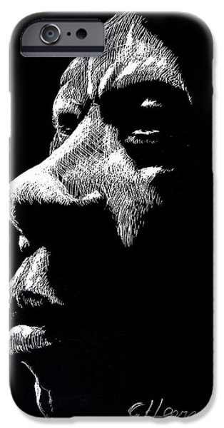 Character Study iPhone Cases - Jean Baptiste iPhone Case by German Hevia