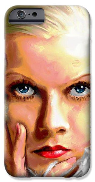 Jean Harlow iPhone Case by Allen Glass