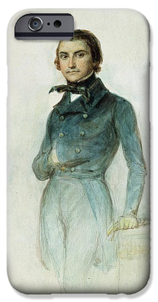 Politician iPhone Cases - Jean Joseph Louis Blanc 1811-82 1835 Pastel On Paper iPhone Case by Denis-Auguste-Marie Raffet