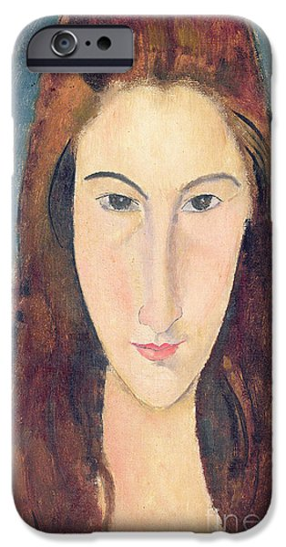Clemente iPhone Cases - Jeanne Hebuterne iPhone Case by Amedeo Modigliani