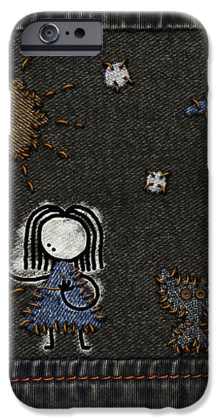 Jeans Stitches iPhone Case by Gianfranco Weiss