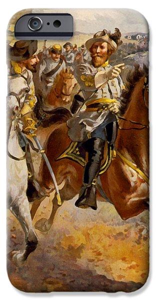 Confederate Flag iPhone Cases - Jeb Stuart Civil War iPhone Case by Henry Alexander Ogden