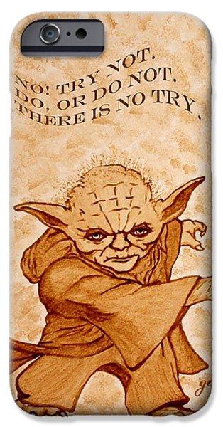 Used iPhone Cases - Jedi Yoda Wisdom iPhone Case by Georgeta  Blanaru