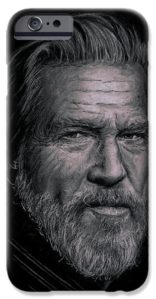 True Grit iPhone Cases - Jeff Bridges iPhone Case by Ryan Jacobson