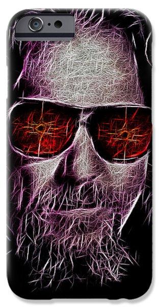 Jeff Bridges iPhone Cases - Jeff Lebowski - The Dude iPhone Case by Bill Cannon