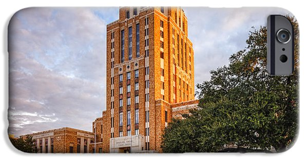 Election iPhone Cases - Jefferson County Courthouse at Sunrise - Beaumont East Texas iPhone Case by Silvio Ligutti
