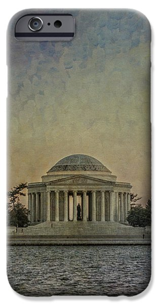 Jefferson Memorial at Dusk iPhone Case by Terry Rowe