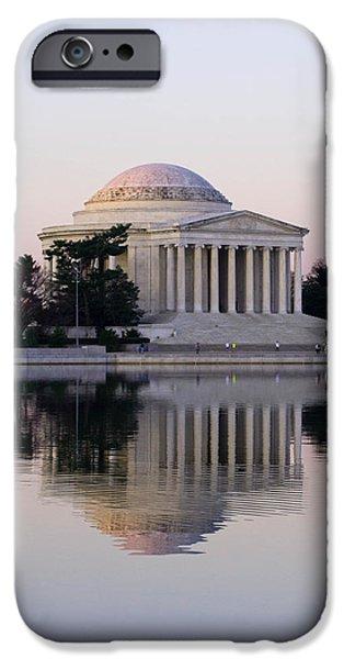 Washingtondc iPhone Cases - Jefferson Memorial at Sunrise II iPhone Case by Debra Bowers