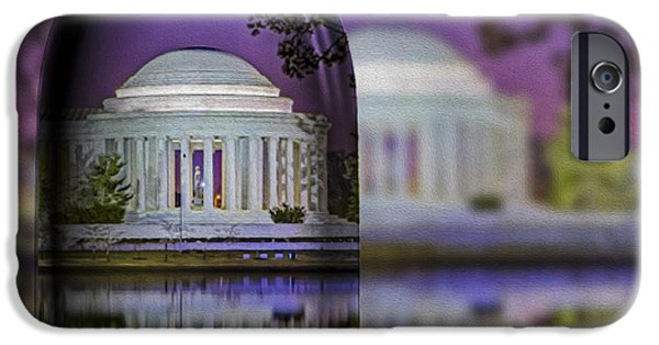 D.c. Digital iPhone Cases - Jefferson Memorial In A Bottle iPhone Case by Susan Candelario