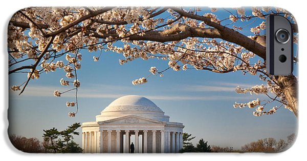 D.c. iPhone Cases - Jefferson Memorial iPhone Case by Inge Johnsson