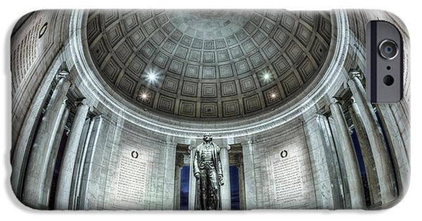 D.c. iPhone Cases - Jefferson Memorial Interior I iPhone Case by Clarence Holmes